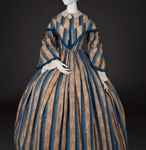 """Woman's Dress,"" c. 1850-60. Cotton and cambric. Gift by contributions, 1946.288, Courtesy of the Wadsworth Atheneum."