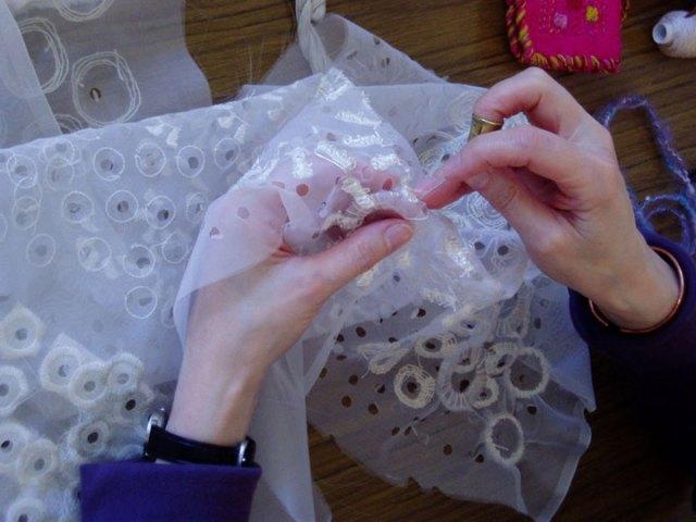 artist stitching