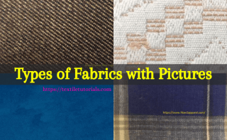 Different types of fabrics with pictures and uses