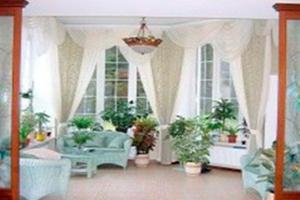 Вітальня в дизайнах штор