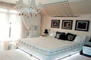 Спальня в дизайнах штор