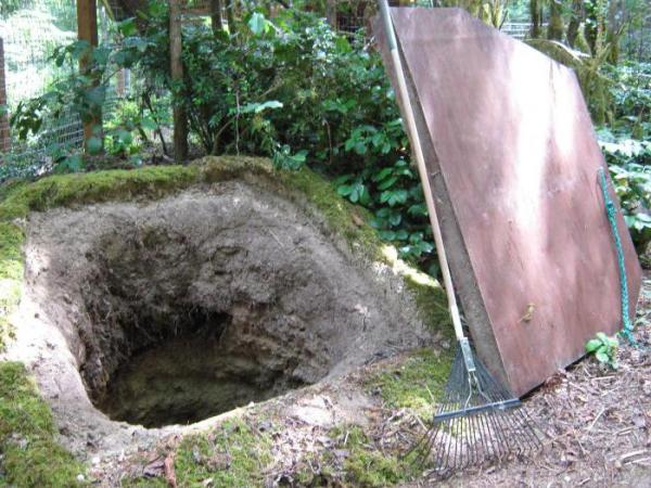 Овощная яма своими руками: этапы и технология строительства