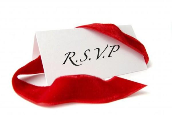 Приглашение с пометкой RSVP:  расшифровка и значение