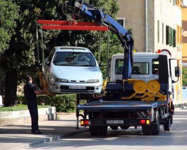 Эвакуация машины: правила, штраф