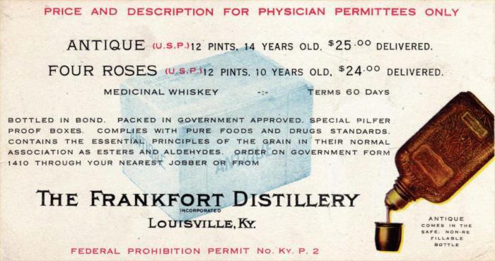 Забавная история, или Как доктора прописывали алкоголь во время сухого закона