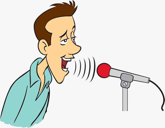 диктор у микрофона