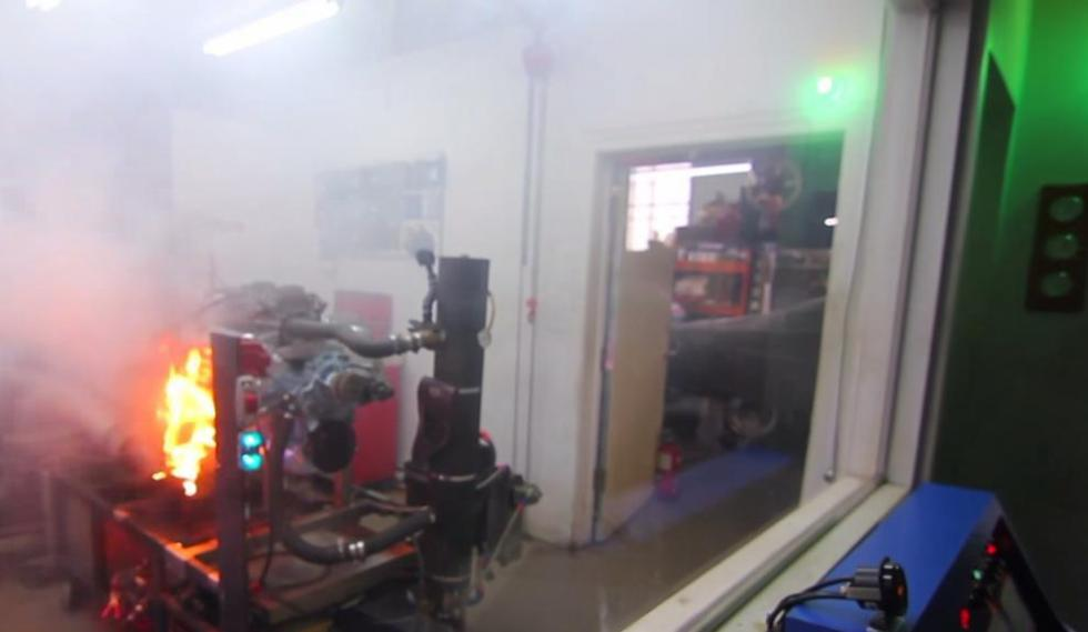 Возгорание в гараже