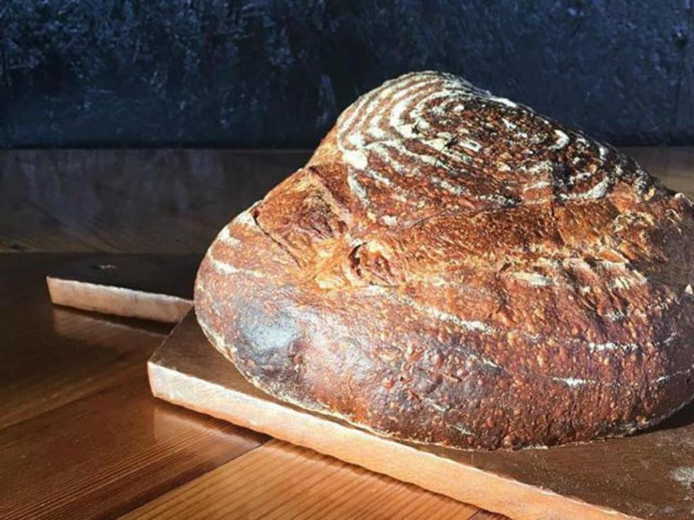 Круглый пеклеванный хлеб
