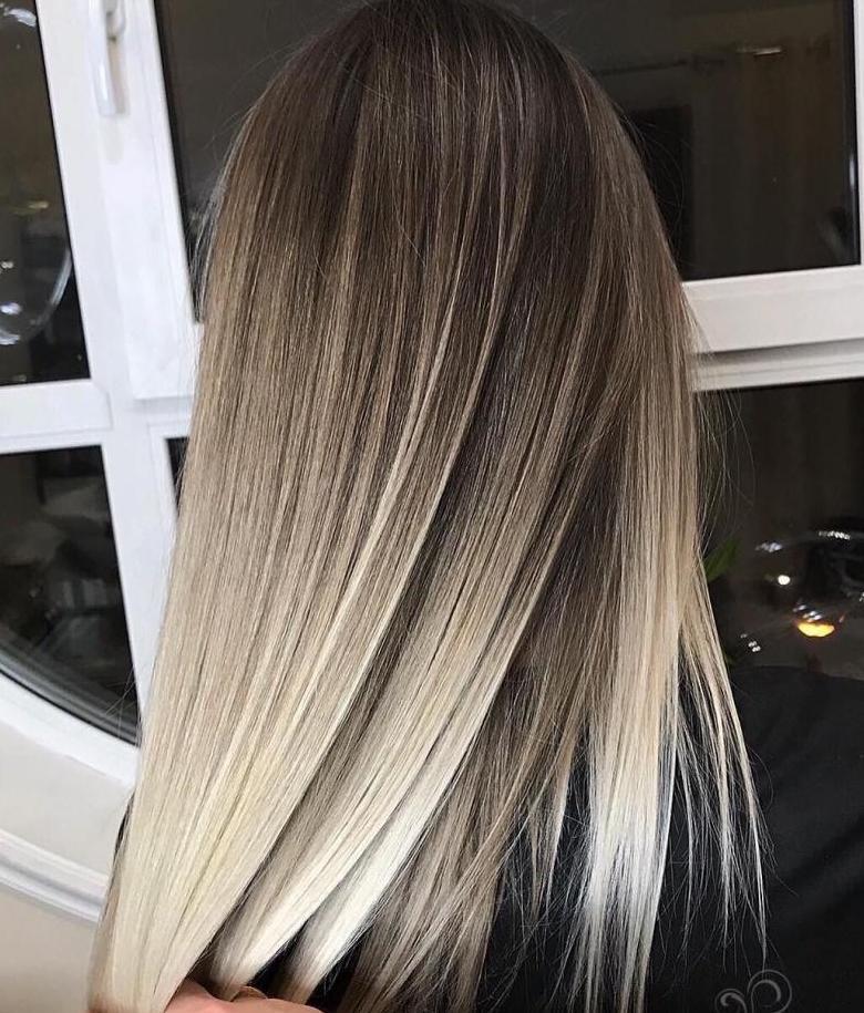 омбре на прямых коротких волосах