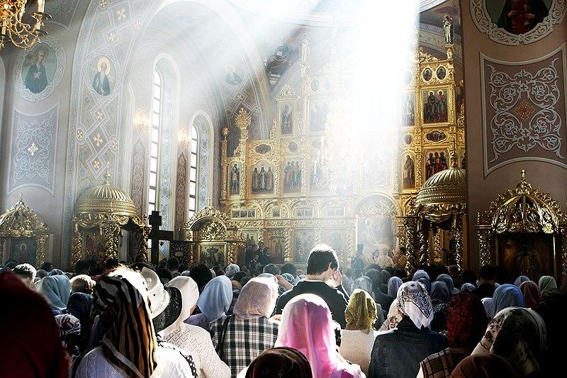 Богослужение в одной из белорусских церквей