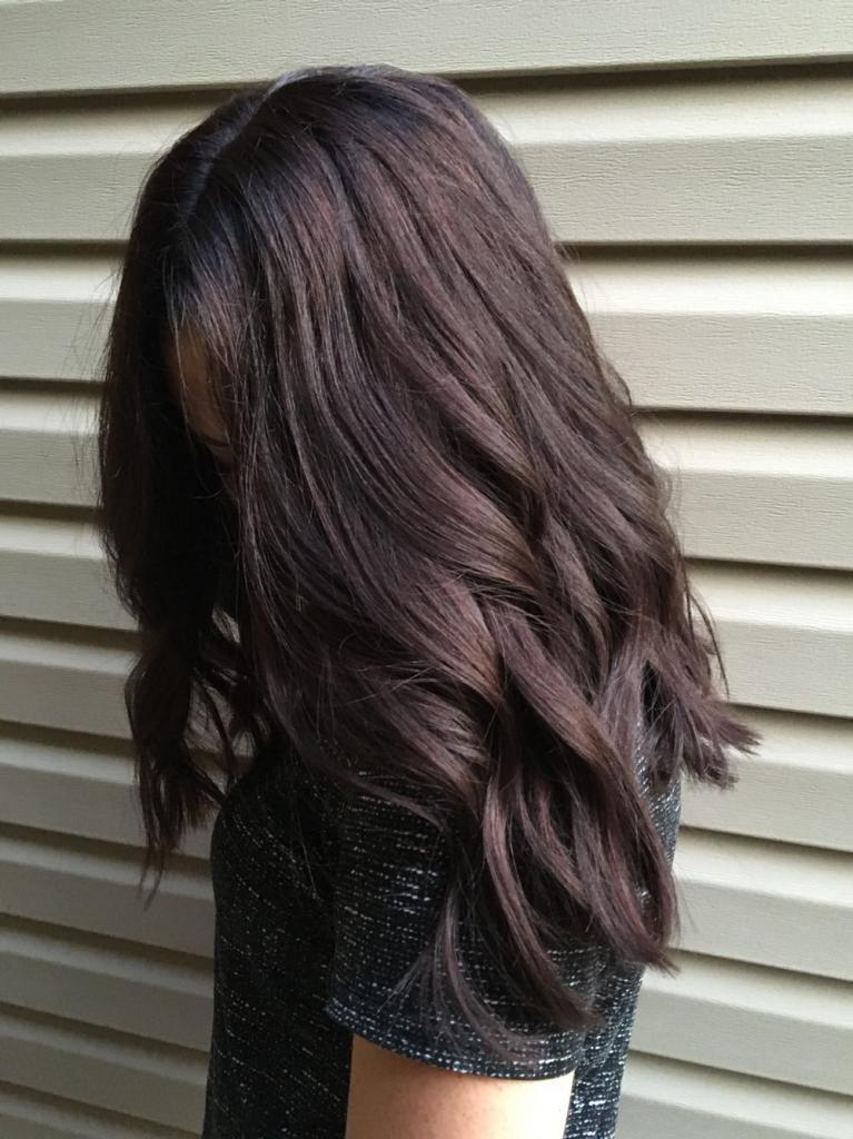 шоколадный оттенок волос