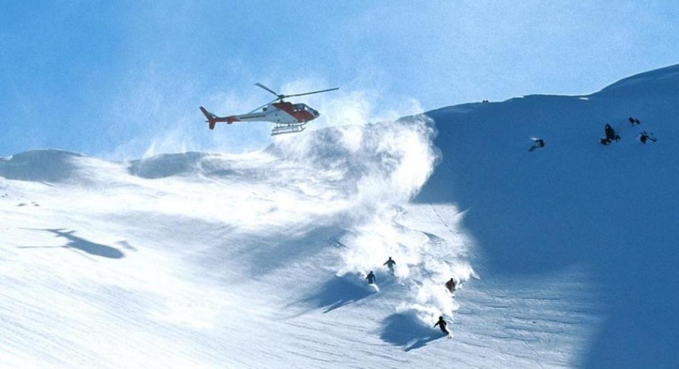 Хели-ски на склонах гор