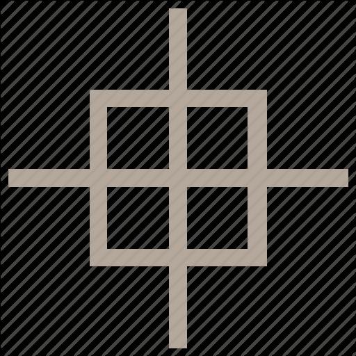 Крест, выходящий за границы квадрата