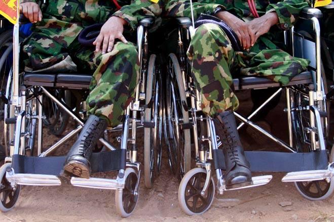 инвалиды воины