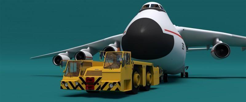 Самый мощный аэродромный тягач