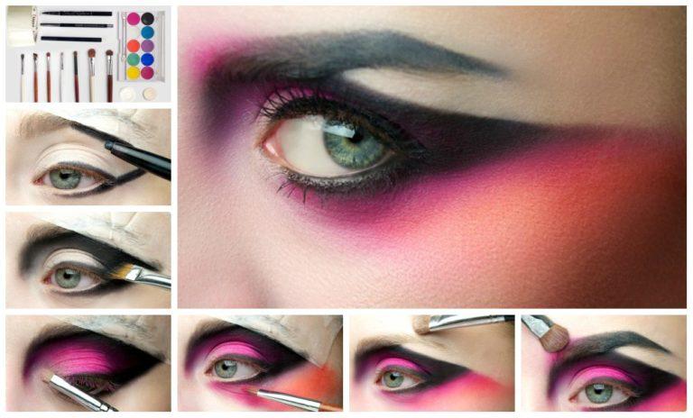 Пурпурный макияж