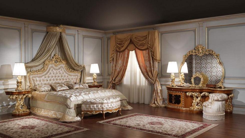 как оформить спальню в стиле барокко