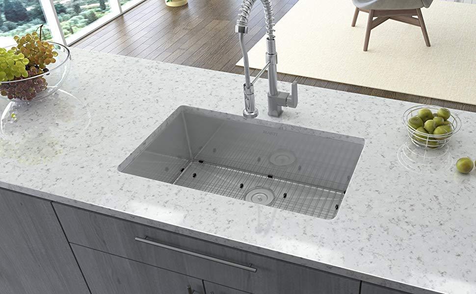 размеры кухонных раковин из камня