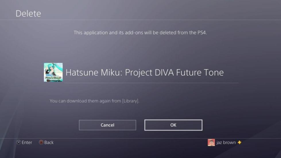 Как удалить игру с PS4