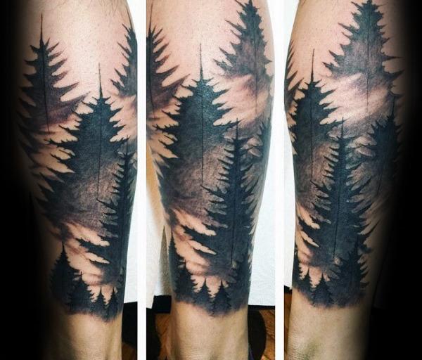 тату-рукав лес