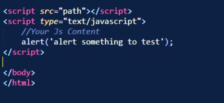 Использование тега <script>
