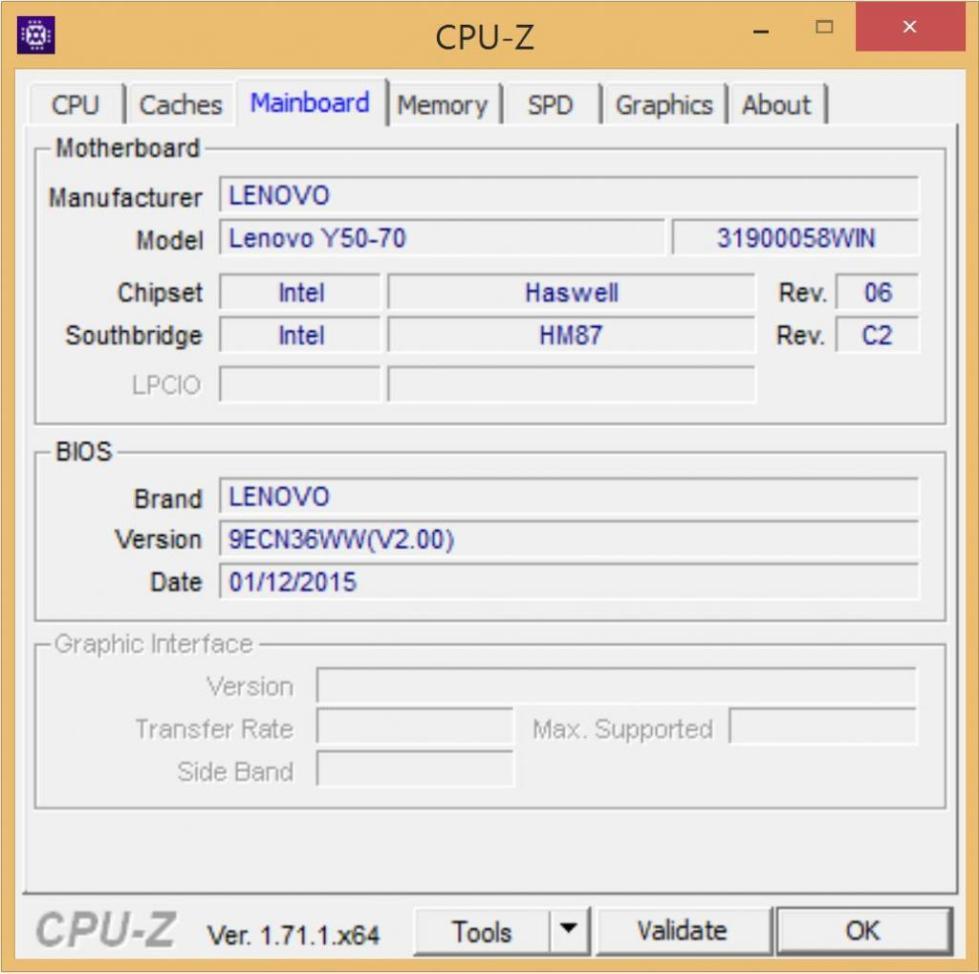 Модель чипсета в программе CPU-Z