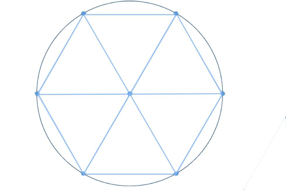 Шестиугольник, вписанный в окружность
