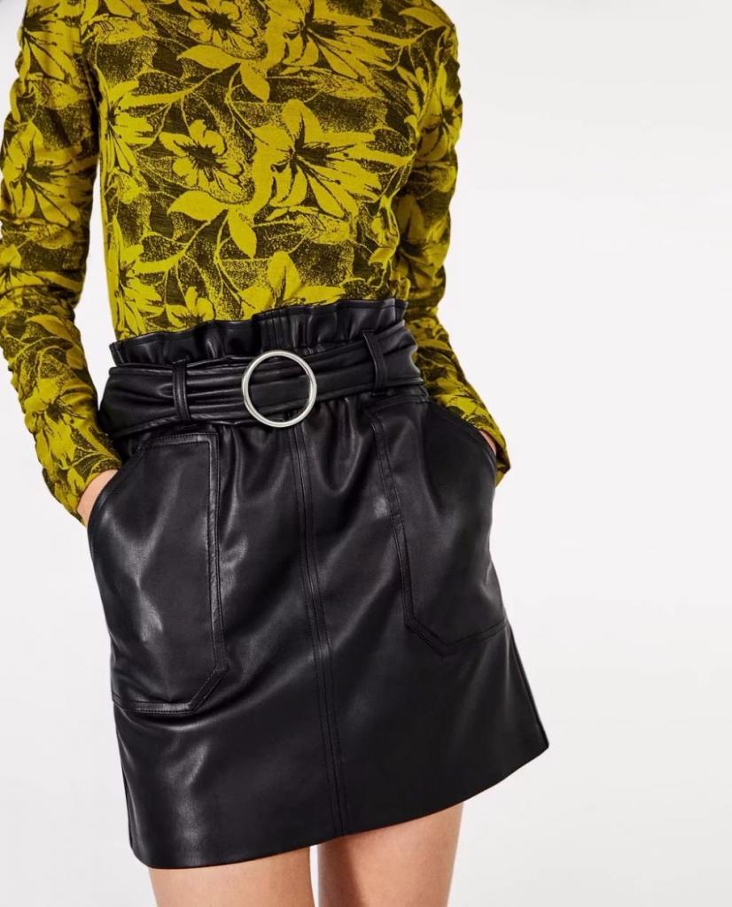 как погладить кожаную юбку утюгом