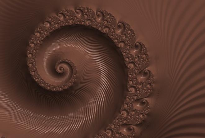 Однородный цвет шоколада