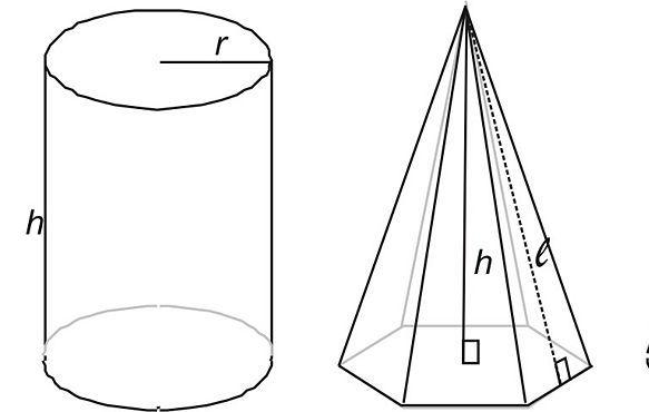 Пирамида и цилиндр