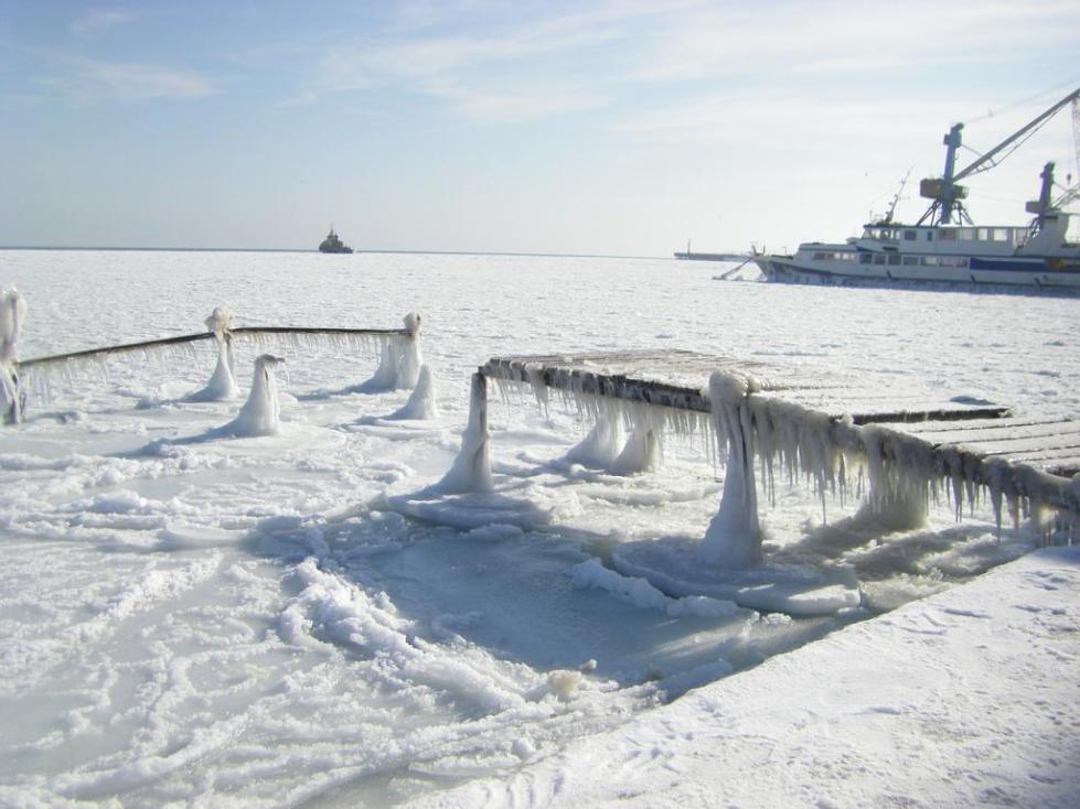 Зимний порт Евпатории.