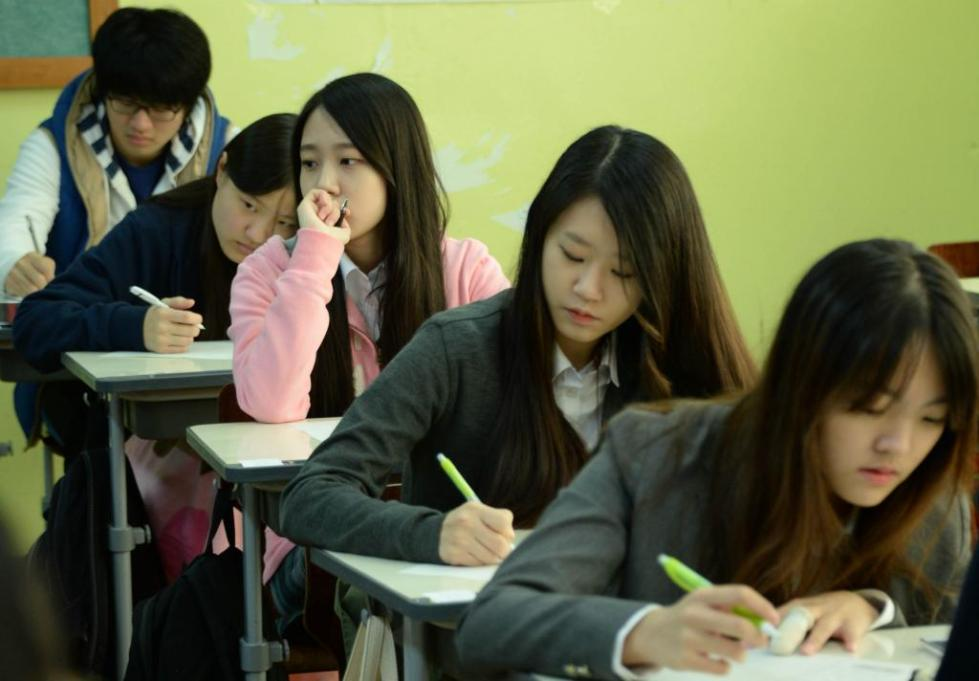 экзамен в корейской школе