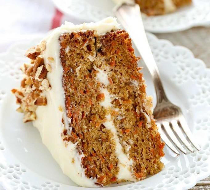 морковный пирог с творожным кремом