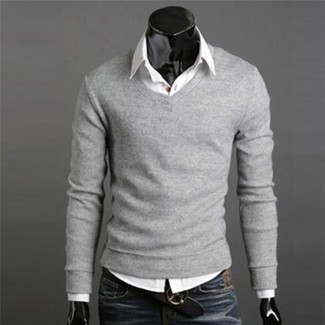 свитер с рубашкой мужские