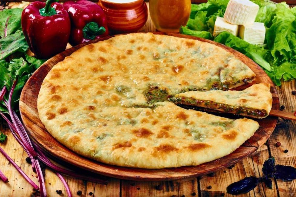 осетинский пирог с творогом и сыром