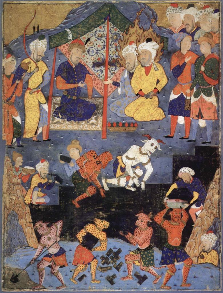 Мусульманская фреска.