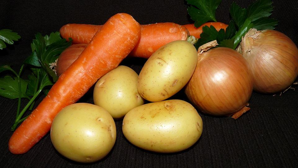Картофель, лук, морковь