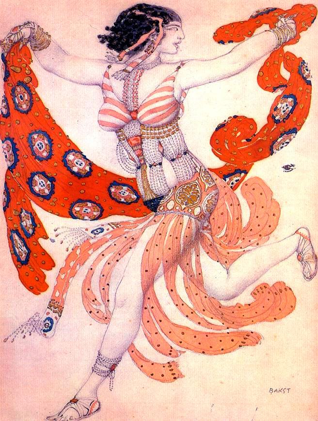 Эскиз к балету Клеопатра
