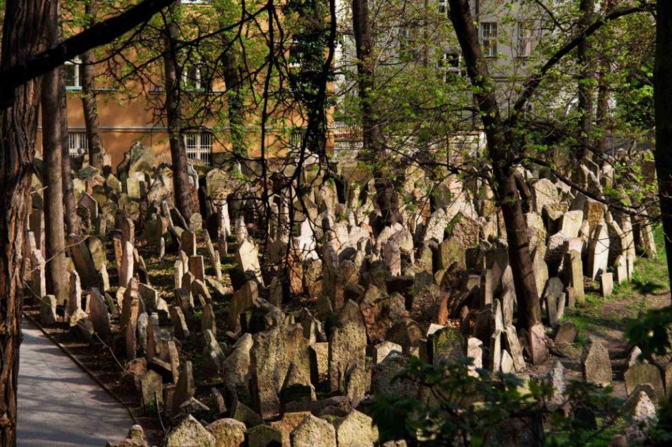 старое еврейское кладбище в праге фото