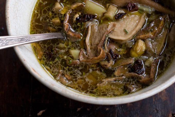 Суп из замороженных лесных грибов рецепт фото