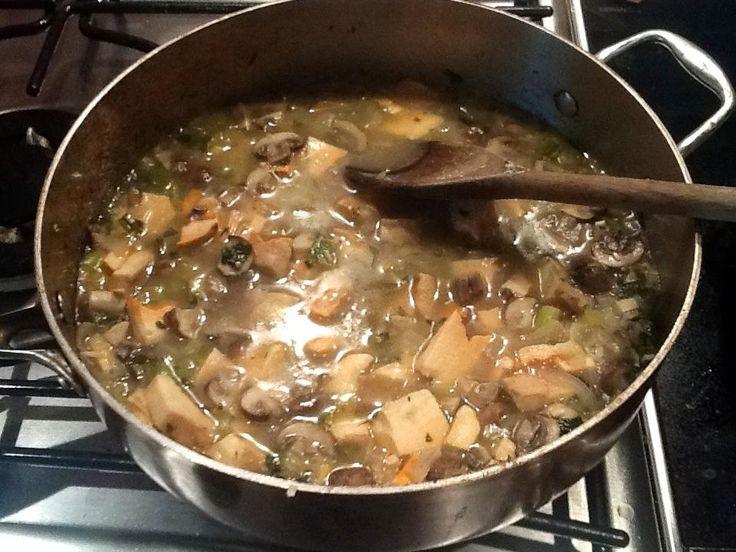 Как сварить суп из замороженных лесных грибов