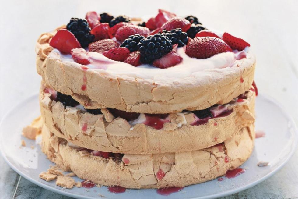 торт анна коржи из меренги