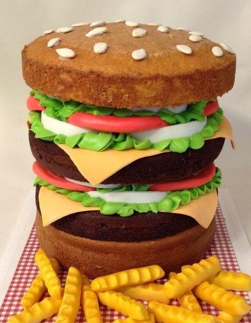 торт в виде бургера