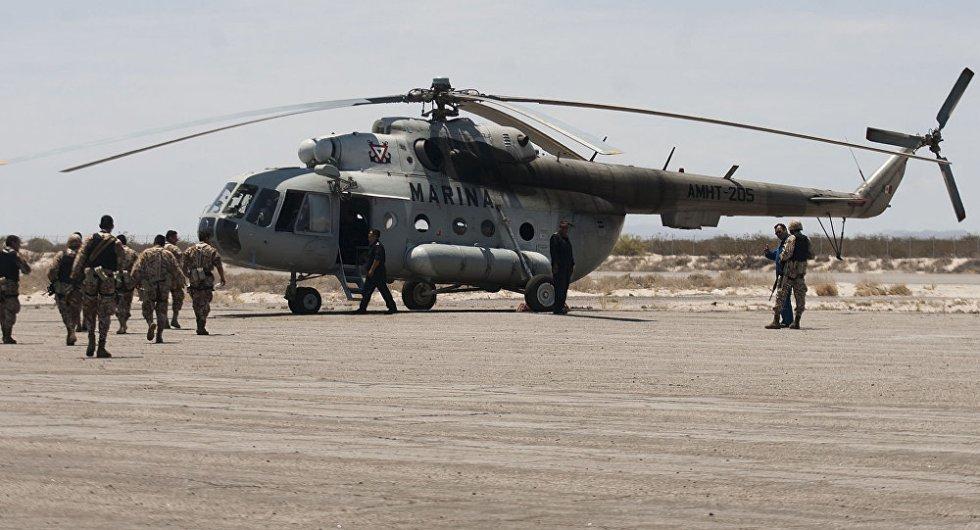 российские вертолеты в мексике