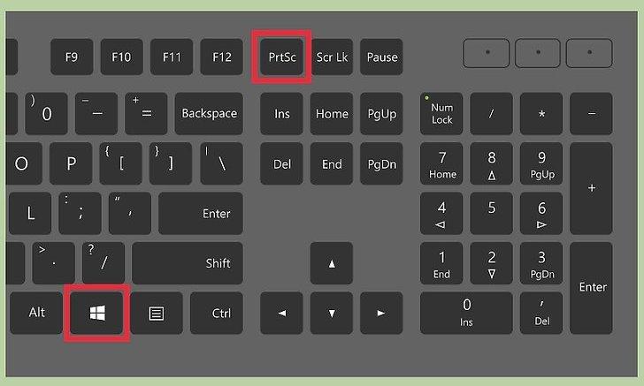 Горячие клавиши для создания скриншота