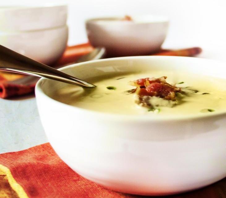 кукурузный суп с беконом