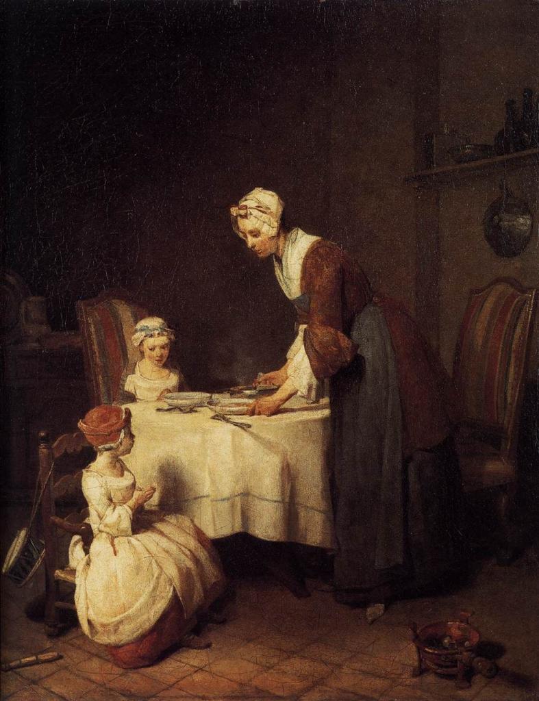 """Жан-Батист Шарден """"Молитва перед обедом"""""""