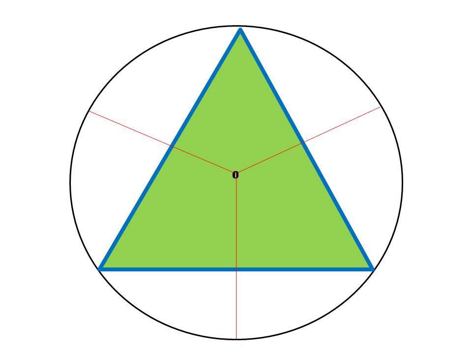 Геометрический центр правильного треугольника