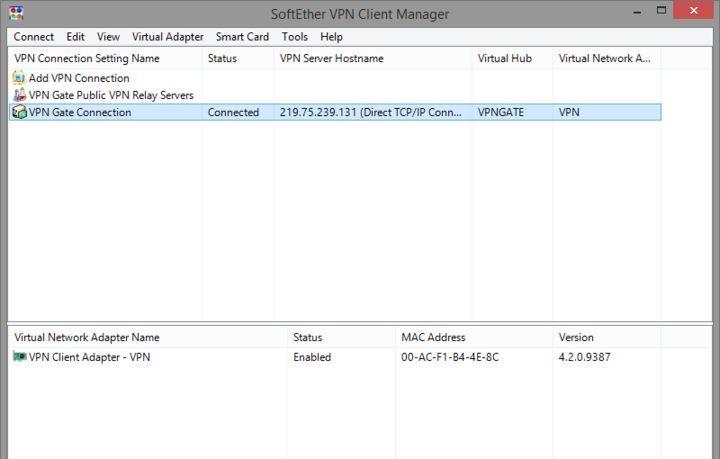 как настроить softether vpn client manager