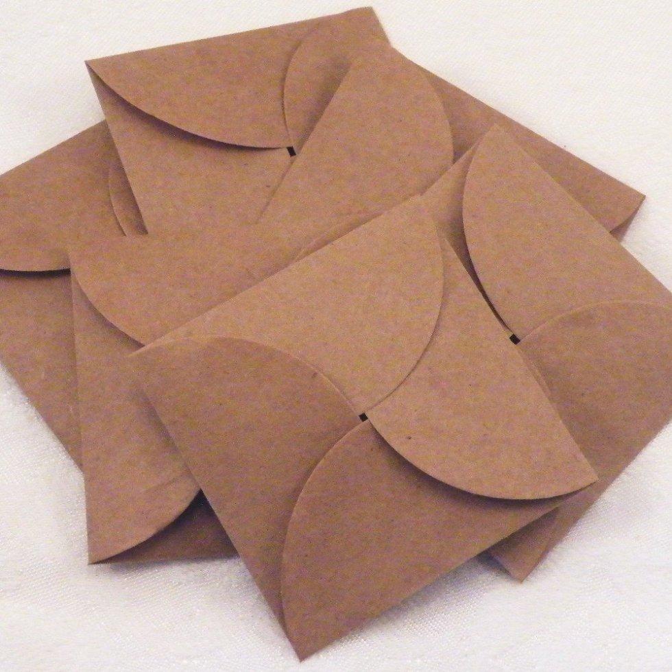 самодельный конверт в экостиле